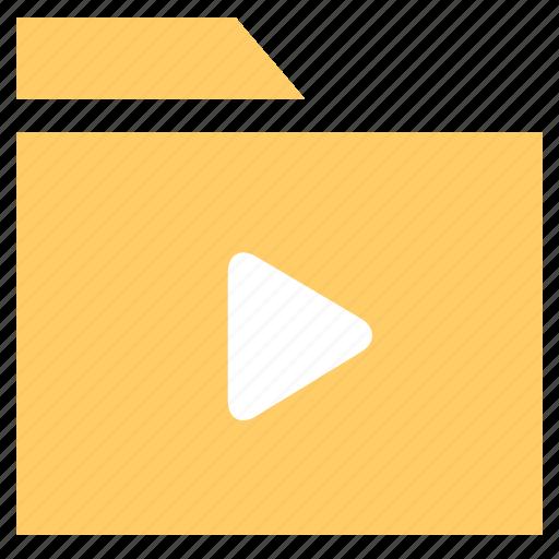 archive, document, folder, movie folder, video foder icon