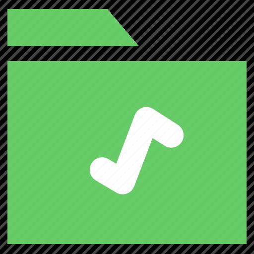 archive, document, folder, media folder, multimedia folder, music folder icon
