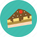 cake, chocolate, dessert, food icon