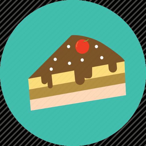 cake, chocolate, dessert, food icon