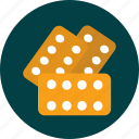 biscuit, cracker, food, snack icon