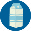 cow, drink, milk, pack icon