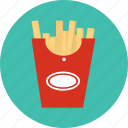food, potato, snank, stick icon