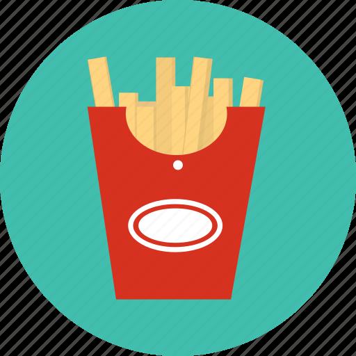 food, potato, snank, stick icon