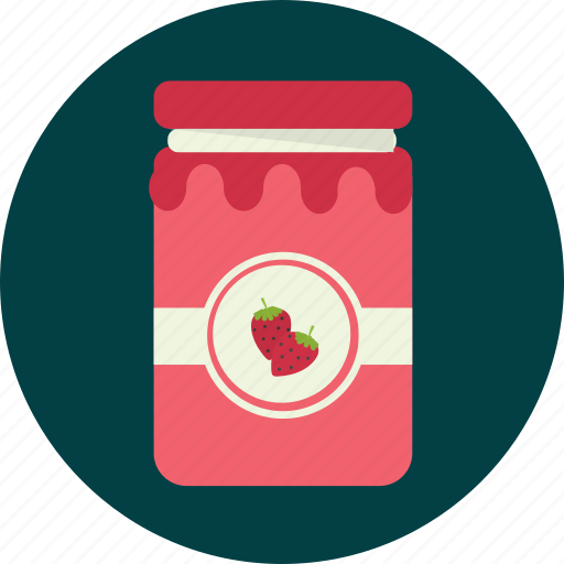 food, jam, strawberry icon