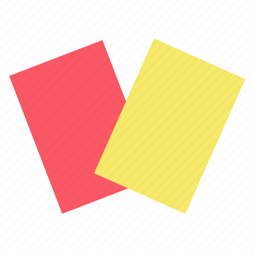 card, football, red card, soccer, sport, yellow card icon