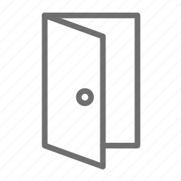 doors, home, house, open icon