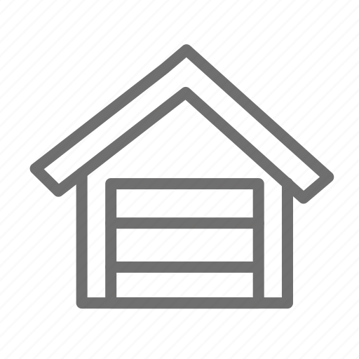 garage, home, house, propety icon