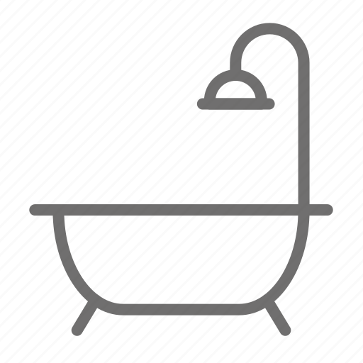 bath, bathroom, home, house, shower icon