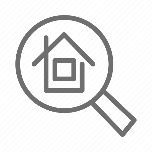 bulding, home, house, renting, search icon