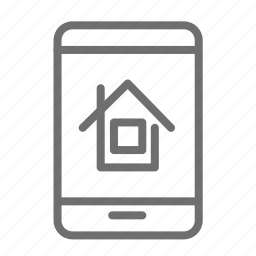 application, home, house, mobile, portal, propety, rent icon