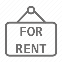 information, panel, rent, tablet icon