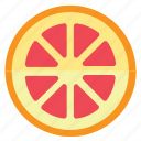 eating, food, foods, fruit, fruits, grapefruit, healthy, red, yellow icon