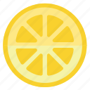 eating, food, foods, fruit, fruits, healthy, lemon, yellow icon