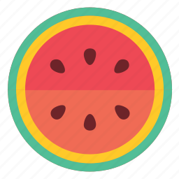 eating, food, foods, fruit, fruits, green, healthy, red, watermelon icon