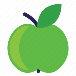 apple, eating, food, foods, fruit, fruits, green, healthy icon