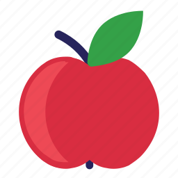 apple, eating, food, foods, fruit, fruits, healthy, red icon