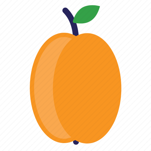 eating, food, foods, fruit, fruits, healthy, orange, peach icon