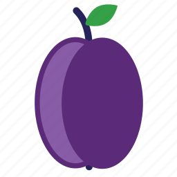 eating, food, foods, fruit, fruits, healthy, plumb, purple icon