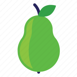 eating, food, foods, fruit, fruits, green, healthy, pear icon