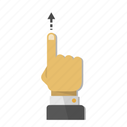 arrow, finger, gesture, hand, touch, up, upload icon