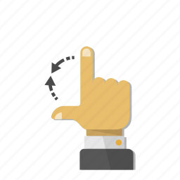 arrow, change, gesture, hand, minimize, resize, size icon