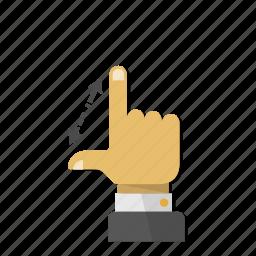 arrow, arrows, expand, gesture, interactive, scroll, spread icon