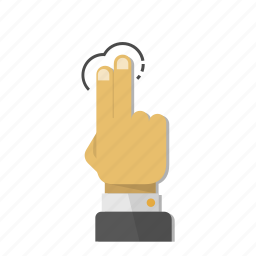 fingers, gesture, hand, mobile, screen, tap, touch icon
