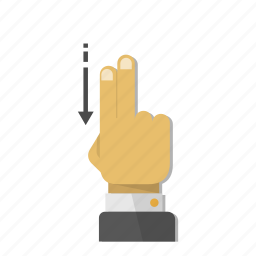 arrow, direction, down, download, gesture, move, scroll icon