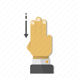direction, down, download, gesture, move, swipe, touch icon