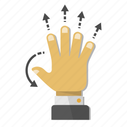 arrows, deploy, expand, fingers, gesture, hand, maximize icon