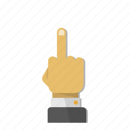 f, finger, fingers, fuck, gesture, hand, middle icon