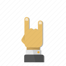 fingers, gesture, hand, metal, rock, roll, two icon