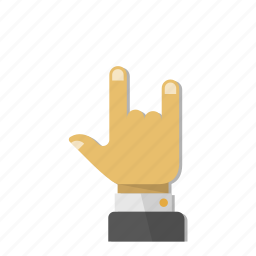 fingers, gesture, hand, metal, rock, roll, three icon