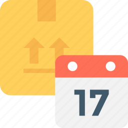 delivery date, delivery deadline, delivery time, package, parcel icon