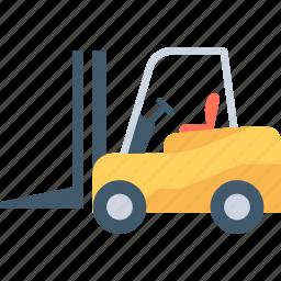 bendi truck, counterbalanced truck, fork truck, forklift, golf cart icon