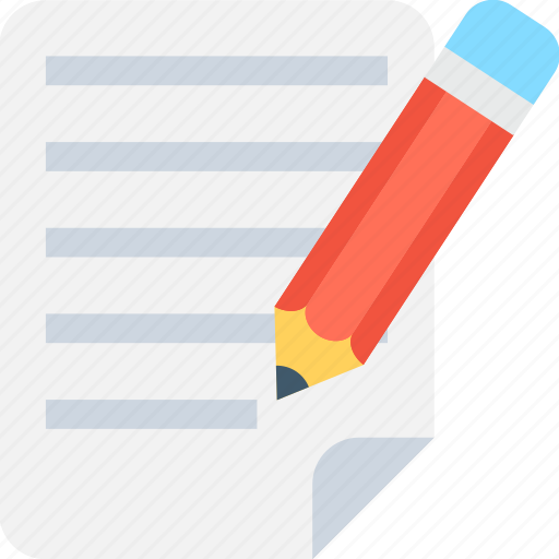 document, form, pencil, text, text sheet icon