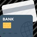 bank card, cash card, credit card, debit card, plastic money icon