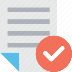 chart, document, list, report, task complete icon