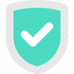approved, checkmark, protection, security, shield icon