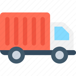 delivery car, delivery van, hatchback, shipping truck, vehicle icon