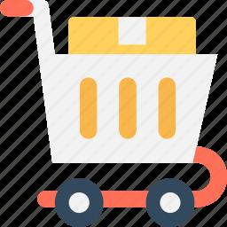 ecommerce, online shopping, shopping cart, supermarket, trolley icon