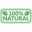 certified, natural, stamp