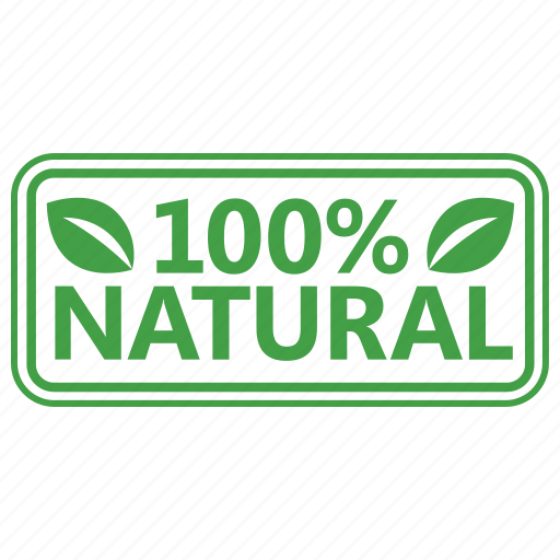 certified, natural, stamp icon