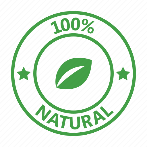 Badge Certified Natural Stamp Icon