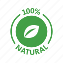 badge, certified, natural