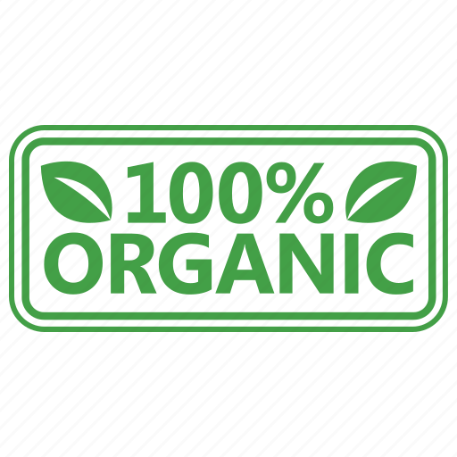 badge certified organic stamp icon