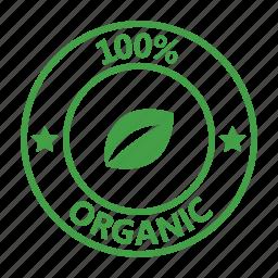 badge, certified, organic icon