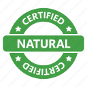 badge, certified, natural icon