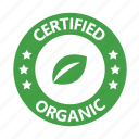 badge, certified, organic icon